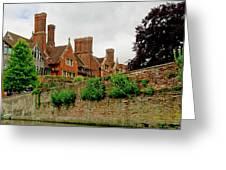 Trinity Hall From The Backs. Cambridge. Greeting Card