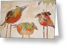 Trio Birds Greeting Card