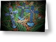 Trio In Pine Greeting Card