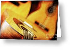 Trio Of Acoustic Guitars Greeting Card