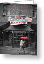 Trio Restaurant Greeting Card