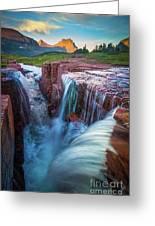 Triple Falls Cascades Greeting Card