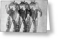 Triple Robocop Greeting Card