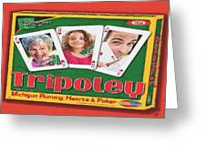 Tripoley Board Game Painting Greeting Card