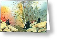 Triptych Panel 3 Greeting Card