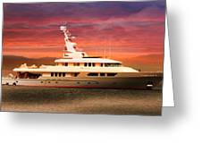 Triton Yacht Greeting Card by Aaron Berg