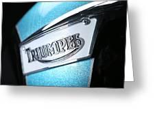Triumph Badge Greeting Card