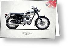 Triumph Bonneville 63 Greeting Card