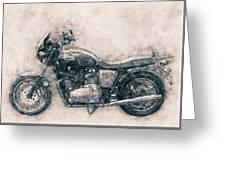 Triumph Bonneville - Standard Motorcycle - 1959 - Motorcycle Poster - Automotive Art Greeting Card