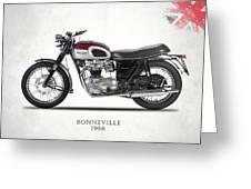 Triumph Bonneville T120 1968 Greeting Card