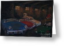 Triumph Garage Greeting Card