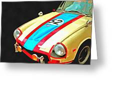 Triumph Gt Pop Art Greeting Card