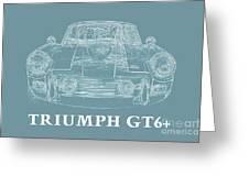 Triumph Gt6 Plus Greeting Card