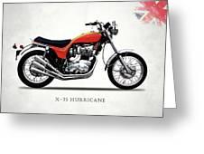 Triumph Hurricane Greeting Card by Mark Rogan