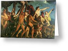 Triumph Of Bacchus 1514 Greeting Card