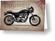 Triumph Thruxton 900 Greeting Card