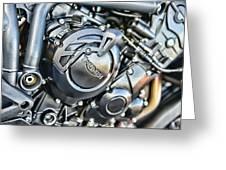 Triumph Tiger 800 Xc Engine Greeting Card