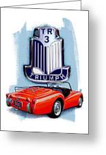 Triumph Tr-3 Red Greeting Card