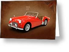 Triumph Tr3 1957 Greeting Card