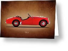 Triumph Tr3a 1959 Greeting Card
