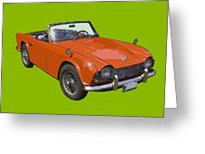 Triumph Tr4 - British - Sports Car Greeting Card