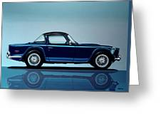 Triumph Tr5 1968 Painting Greeting Card