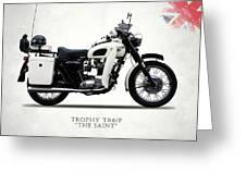 Triumph Tr6p - The Saint Greeting Card