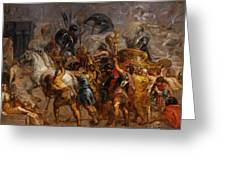 Triumphal Entry Of Henry Iv In Paris Greeting Card