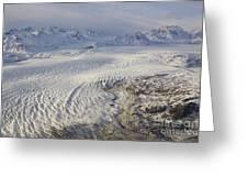 Triumvirate Glacier In Winter Light Greeting Card