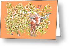 Trivia Too A Texas Longhorn Sunflowers Lh072 Greeting Card