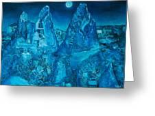 Troglodyte Village Greeting Card