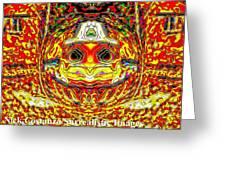 Bizzarre Pumpkin Head Greeting Card