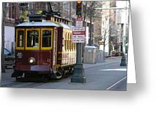 Trolley - Memphis Greeting Card