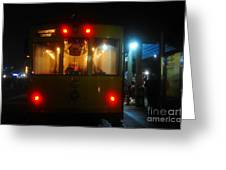 Trolley Car Greeting Card