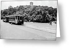 Trolley With Cloisters Greeting Card