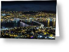 Tromso By Night Greeting Card