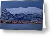 Tromso Seafront Greeting Card