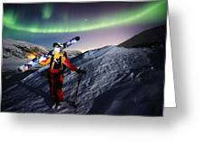 Tromso Winter Skiing Greeting Card