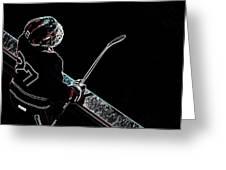 Tron Hockey - 1 Greeting Card