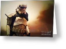 Trooper Landscape Greeting Card