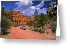 Tropic Canyon Bridge In Bryce Canyon Np Utah Greeting Card