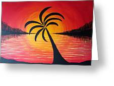 Tropic Of Palms Greeting Card