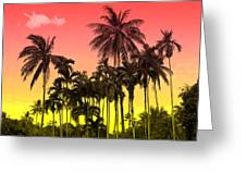 Tropical 9 Greeting Card