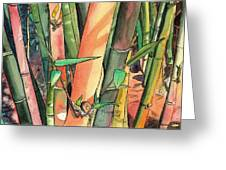 Tropical Bamboo Greeting Card
