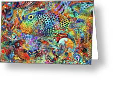 Tropical Beach Art - Under The Sea - Sharon Cummings Greeting Card