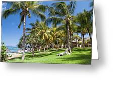 Tropical Beach I. Mauritius Greeting Card