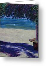 Tropical Beach Shadows Greeting Card