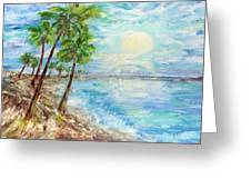 Tropical Blue Greeting Card