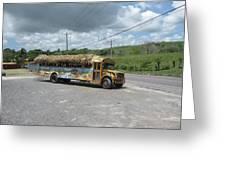Tropical Bus Greeting Card