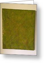Tropical Palms Canvas Green - 16x20 Hand Painted Greeting Card